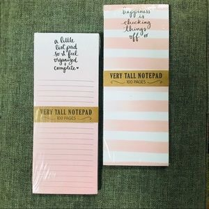 Dayna Lee Very Tall Notepads w Magnet Set of 2 NWT